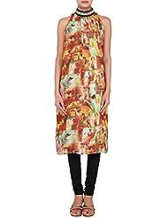 Kalki Fashion Multi Color Kurti Featuring With Digital Print Only On Kalki Size- Large