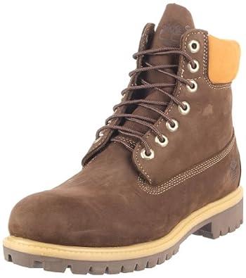 """(暴降)天木兰 Timberland Men's 6"""" Premium 男士经典6寸皮靴 1双 $100.18"""