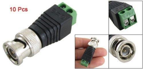 BW® - Set di 10 connettori per cavi coassiali cat5 su videocamera di sorveglianza - Foto e ...
