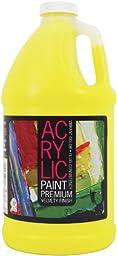 Pro Art 64-Ounce Student Acrylic Bottle, Lemon Yellow