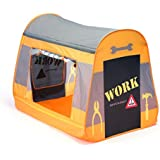 Childrens Pop Up Play Tent Designed like a Construction tent. : Boys Toy Play Tent / Playhouse / Den