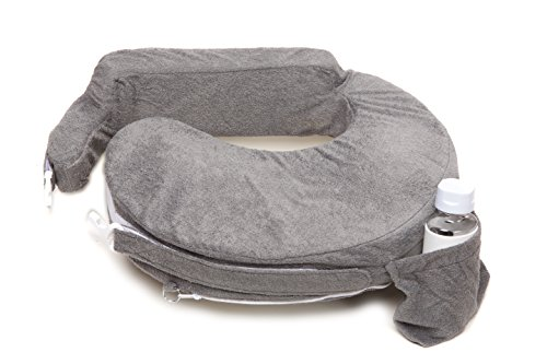 My Brest Friend Nursing Pillow Deluxe Slipcover, Evening, Dark Grey