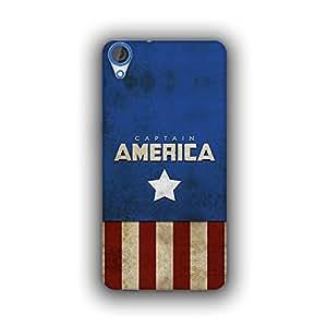 Caseque (Pro) Starmark Captain America Back Cover For HTC Desire 820