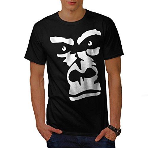 gorilla-animal-monkey-men-new-black-l-t-shirt-wellcoda