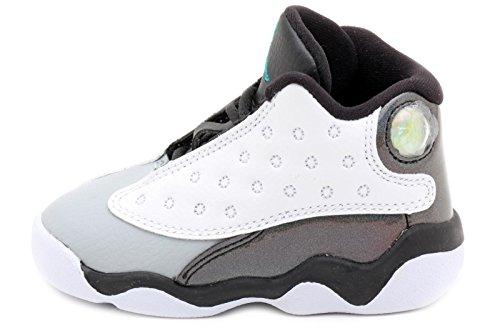 Nike Jordan 13 Retro BT Baby Toddler White/Black/Wolf Grey/Tropical Teal 414581-115 (SIZE: 5C)