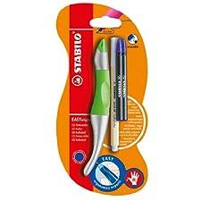 Stabilo B-45302-10 - Bolígrafo para diestros, color verde neón