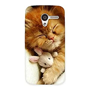 Gorgeous Sleeping Cat with Bunny Multicolor Back Case Cover for Moto X