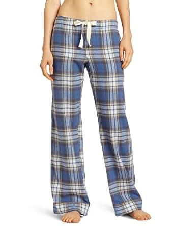 Bottoms Out Women's Flannel Premium Sleep Pant, Blue/Yellow, Medium