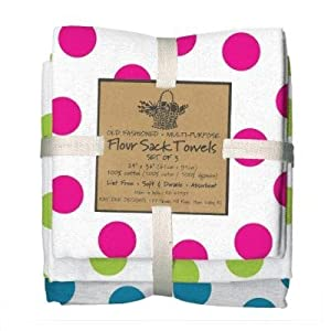 Bright dots flour sack towels set of 3 kay Kay dee designs kitchen towels