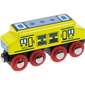 41J1mZwOfaL Cheap Price Bigjigs Single Wooden Train Rolling Stock (Diesel Engine)