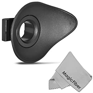 Rubber Eyepiece Eyecup for CANON Rebel (T3i T3 T2i T1i XTi XT XSi XS), CANON EOS (1100D 600D 550D 500D 450D 400D 350D 300D) + MagicFiber Microfiber Lens Cleaning Cloth