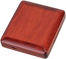 De madera tallado de la mano rojo foncé-étui para cañas de fagot, 3lengüetas Woodwind accesorios