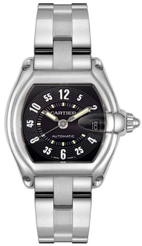 CARTIER Watches:Cartier Men's W62004V3 Roadster Stainless Steel Automatic Watch Images