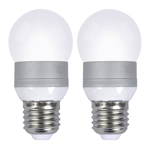 Pack of 2) 5w E26 LED Bulbs, 12 Volt, Warm White, Round