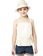 Pure Cotton Broderie Camisole Top