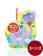 Splish-Splosh Elephant Fun-Shaped Puzzle