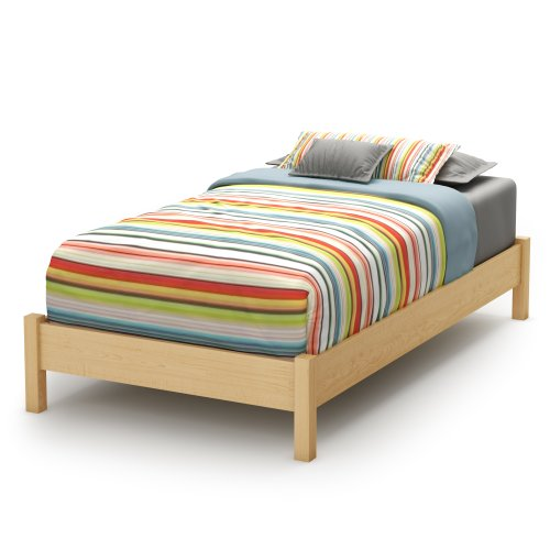 South Shore Sandbox Collection 39-Inch Twin Platform Bed, Natural Maple