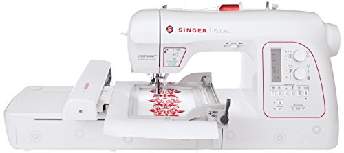 Find Discount Singer XL-580 Futura Embroidery and Sewing Machine with 250 Embroidery Designs