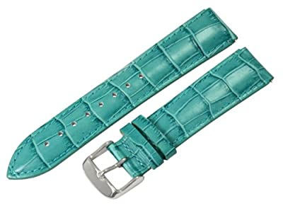 Ocean Croco 20mm Watch Band Fits Philip Stein Large Size 2 (With Built in Quick Release Pins) !!!! by Clockwork Synergy, LLC
