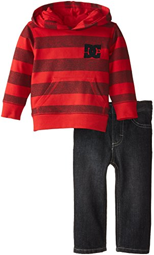 DC Shoes Co Baby Boys' Red Stripes Hoody with Jeans