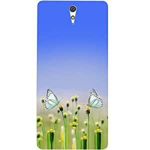 Casotec Butterfly Design Hard Back Case Cover for Sony Xperia C5 Ultra Dual