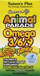 Nature's Plus - Animal Parade Junior Omega 3-6-9, Lemon Flavor, 90 Softgels (Animal Parade Omega 3 compare prices)