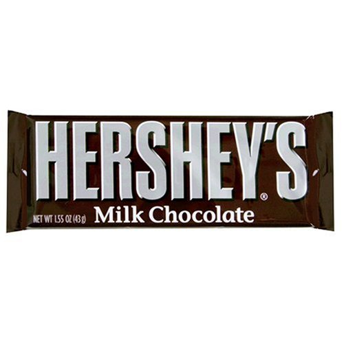 Hershey's Milk Chocolate Bar, 1.55-Ounce Bars (Pack of 36)
