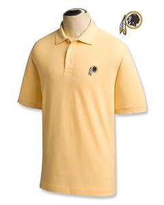 Washington Redskins Mens Ace 100% Cotton Polo Desert - Small