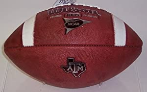 Texas A&M Official Wilson Leather NCAA Game Football - 1005 by Creative+Sports