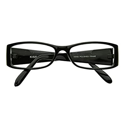 zeroUV - Classic Fashion Slim Frame Optical Eyewear Glasses with Clear Lenses (Black)