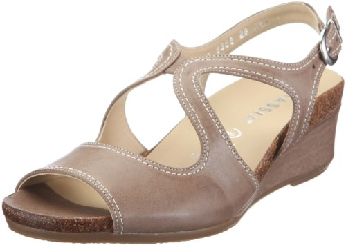 Hassia Siena, Weite H Fashion Sandals Womens Beige Beige/cotton Size: 36 2/3