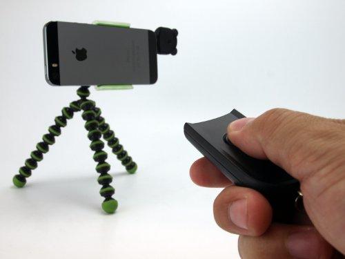 自画撮り/集合写真に最適!離れた位置からシャッターがきれる。カメラアプリ用無線タイプのシャッターリモコン「Wireless Shutter Controller(ワイヤレスシャッターコントローラー)」 (その他, ブラック(ワイヤレスリモコン))