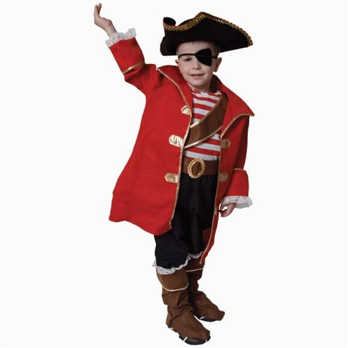 Deluxe Pirate Captain Costume Set - Large 12-14
