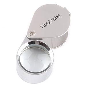 tinxi® 10 Fach Lupe Taschenlupe Vergrößerungsglas für Uhrmacher Juwelier 21mm Lupen