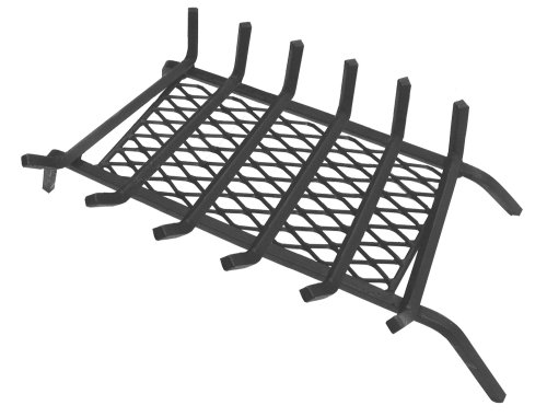 Buy Bargain Landmann USA 97306 1/2 Steel Fireplace Grate with Ember Retainer, 30, 6 Bars