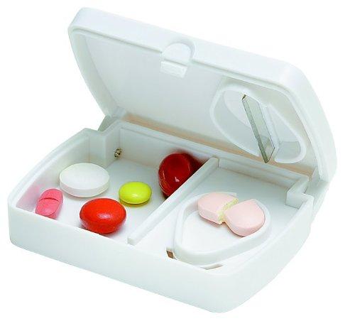 Pillendose / Pillenbox mit Tablettenteiler