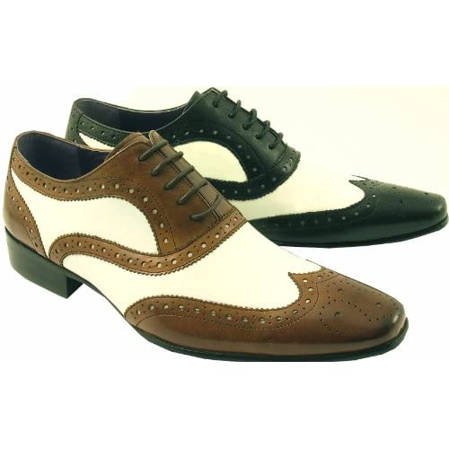 mens leather rock n roll 1950s brogues shoes