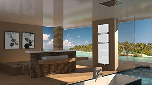 Badheizkrper-Design-Montevideo-6-Glasfront-HxB-180-x-47-cm-1964-Watt-wei-2-Handtuchhalter-50mm-Mittelanschluss-Marke-Szagato-Made-in-Germany-Top-verarbeiteter-Bad-und-Wohnraum-Heizkrper-mit-Echtglas-M