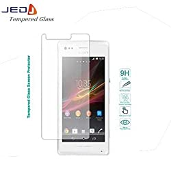 JED Premium Grade Tempered & Toughened Glass with Anti-Scratch & Oleophobic Screen guard for Sony Xperia M