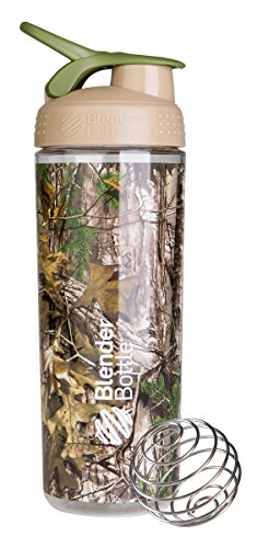 BlenderBottle SportMixer Sleek Shaker Bottle, Realtree Camo, 28 Ounce