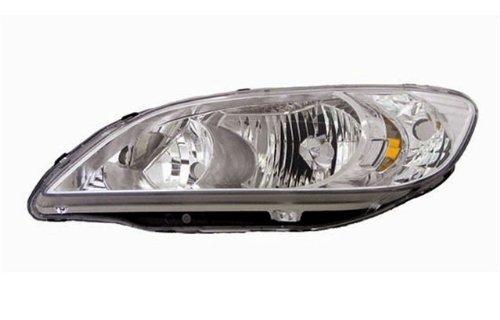 2004-2005 Honda Civic Led Halo Projector Headlights /W Amber (Black)