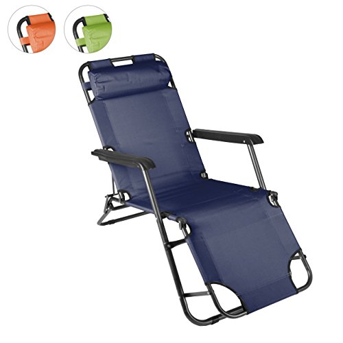klappbare-Sonnenliege-Relaxliege-Liegestuhl-Klappliege-Stahl-Blau