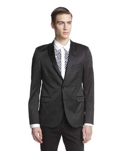 Versace Jeans Men's Satin Lapel Blazer