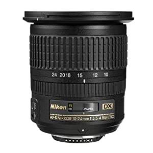 Nikon 10-24mm f/3.5-4.5G ED AF-S DX Nikkor Wide-Angle Zoom Lens for Nikon Digital SLR Cameras from Nikon