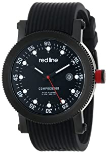 red line Men's RL-18000-01-BBWSET Compressor Black Dial Black Silicone Watch