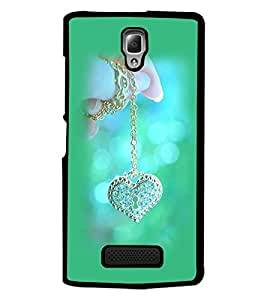 PrintDhaba Heart Pendent D-1978 Back Case Cover for LENOVO A2010 (Multi-Coloured)