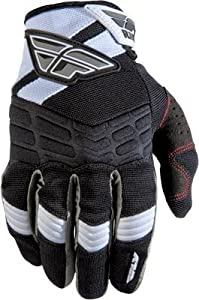 Fly Racing F-16 Youth Gloves, Black/White, Size Segment: Youth, Size: Md, Size Modifier: 5, 365-51005