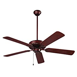 NuTone CFO52WB Energy Star Qualified Dual Blades Outdoor Ceiling Fan, 52-Inch, Weathered Bronze