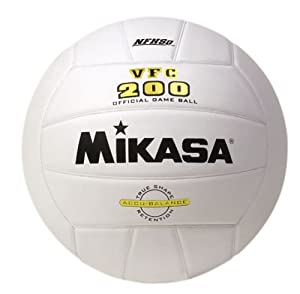 Buy Mikasa VFC200 Full-Grain Leather Volleyball (Official Size) by Mikasa Sports