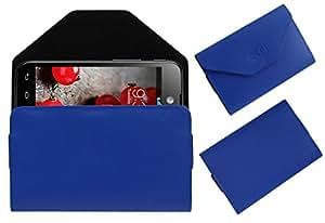 Acm Premium Pouch Case For Lg Optimus L5 Ii E455 Flip Flap Cover Holder Blue